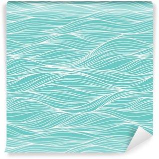 Vinil Duvar Kağıdı Vektör sorunsuz soyut desen, dalgalar