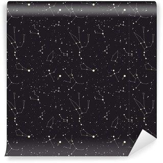 Vinil Duvar Kağıdı Yıldız takımyıldızı vektör