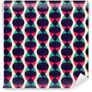 Zigzag-saumaton kuvio grunge-vaikutuksella Itsestäänkiinnittyvä tapetti