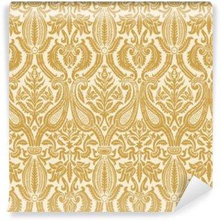 Teste padrão sem emenda floral do damasco backgroun abstrato do vintage