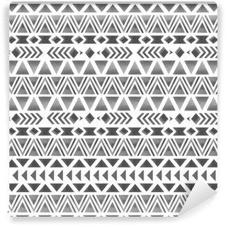 Patrón étnico sin fisuras. impresión de acuarela geométrica