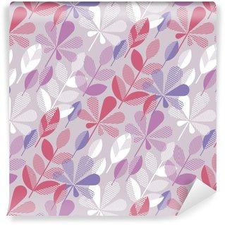 Papel pintado estándar a medida Hojas de otoño sin patrón ilustración vectorial. concepto abstracto elemento natural para el fondo, tela, papel de regalo