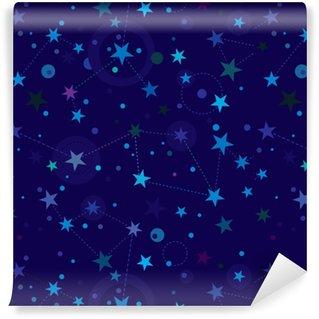 Muestra de patrón de noche estrellada (mosaico sin costura)