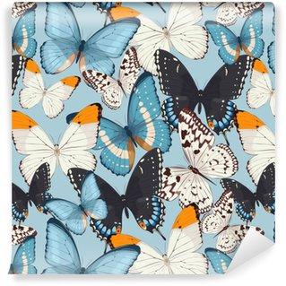 Papier peint autocollant sur mesure Papillons colorés sans soudure