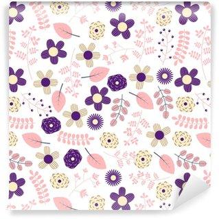 Papier peint vinyle sur mesure Conception de modèle sans couture floral mignon et élégant pour le textile, vêtements pour les femmes et les produits de fille