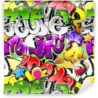 Papier Peint à Motifs Vinyle Contexte Graffiti Art urbain. Conception sans couture