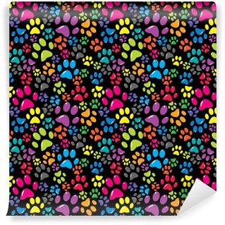 Papier peint vinyle sur mesure Fond coloré avec des pattes