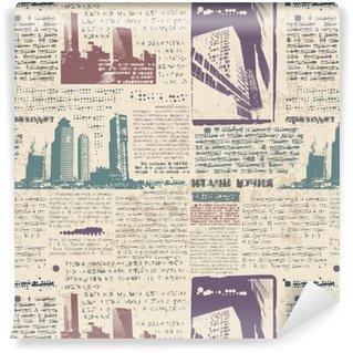 Papier peint vinyle sur mesure Grunge city