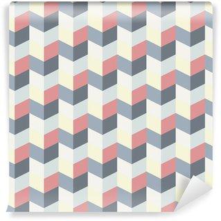 Papier peint lavable sur mesure Abstract retro geometric pattern