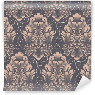 Élément de modèle sans couture damassé de vecteur. ornement damassé démodé de luxe classique, texture transparente victorienne royale pour fonds d'écran, textile, emballage. exquis modèle baroque floral.