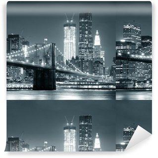 Papier peint lavable sur mesure New york city brooklyn bridge