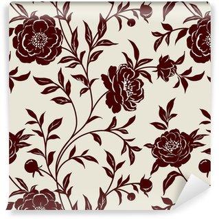 Papier peint à fleurs