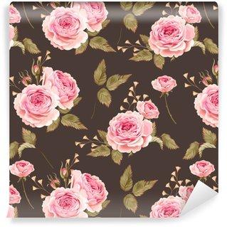 Papier peint lavable sur mesure Roses anglaises sans soudure