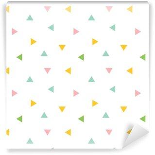 Papier peint vinyle sur mesure Mignon coloré géométrique, triangle sans soudure de fond.