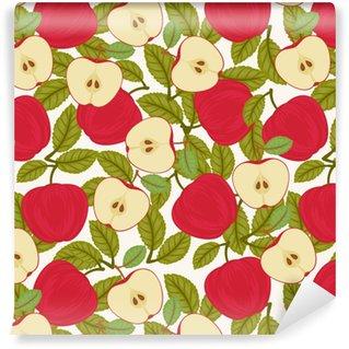 Papier peint vinyle sur mesure Modèle de pomme sans couture