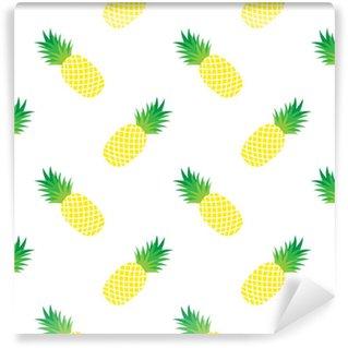 Papier peint vinyle sur mesure Modèle sans couture avec ananas