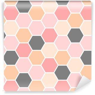 Papier peint vinyle sur mesure Modèle sans couture d'hexagone