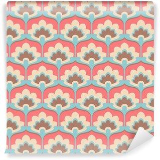 Papier peint vinyle sur mesure Motif de fleur vintage transparente