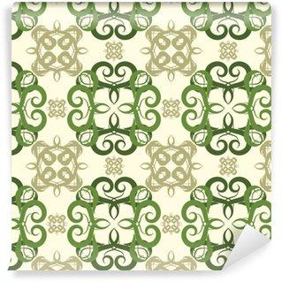 Papier peint vinyle sur mesure Motif floral abstrait sans soudure, modèle de mandala