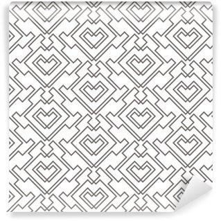 Papier peint vinyle sur mesure Motif sans soudure abstrait géométrique. arrière-plan de motif linéaire