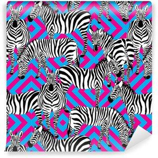 Papiers peints motifs z bres pixers nous vivons - Papier peint zebre noir et blanc ...