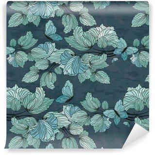 Papier peint vinyle sur mesure Ornement floral sans soudure
