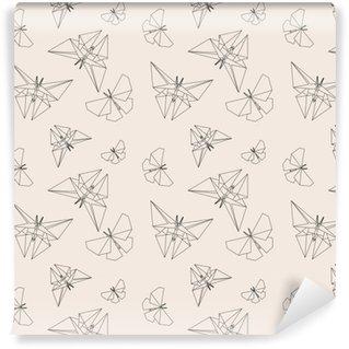 papiers peints motifs origami pixers nous vivons pour changer. Black Bedroom Furniture Sets. Home Design Ideas
