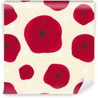 Papier peint vinyle sur mesure Transparente motif floral
