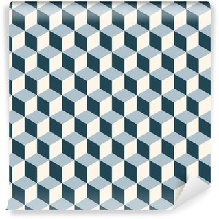 Papier Peint à Motifs Vinyle Vintage cubes 3d motif de fond. modèle vectoriel Retro.