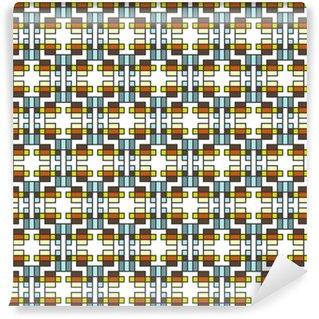 Geometrisches abstraktes nahtloses Muster. linearer Motivhintergrund dez