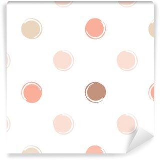 Selbstklebende Tapete nach Maß Geometrisches nahtloses Muster des netten Vektors. Pinselstriche. Punktmuster.