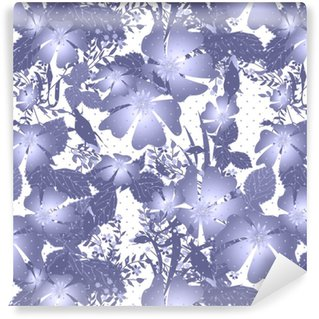 Abstract elegance seamless pattern with flowers background Self-adhesive custom-made wallpaper