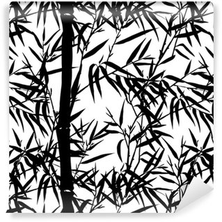 Bamboo leaf background. Floral seamless texture with leaves. Self-adhesive Custom-made Wallpaper