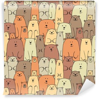 Bears family, seamless pattern for your design Self-adhesive Custom-made Wallpaper