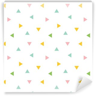 Cute colorful geometric, triangle seamless pattern background. Self-adhesive Custom-made Wallpaper