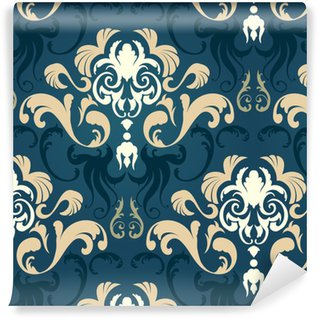 Damask seamless pattern Self-adhesive Custom-made Wallpaper
