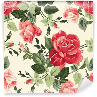 Fancy rose wallpaper Self-adhesive custom-made wallpaper