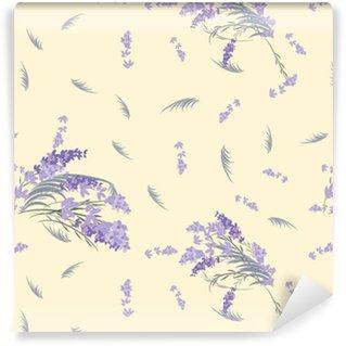 Floral lavender retro vintage background Self-adhesive Custom-made Wallpaper