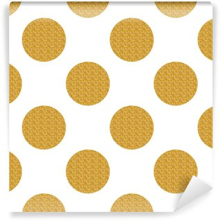 Golden seamless pattern with circles Self-adhesive Custom-made Wallpaper