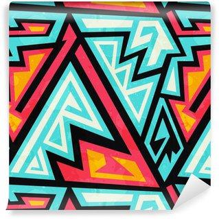 Graffiti geometric seamless pattern Self-adhesive custom-made wallpaper