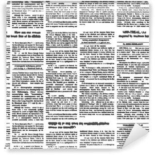 New newspaper seamless pattern. Vector background of newspaper t Self-adhesive custom-made wallpaper