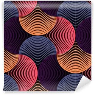 Ornate Geometric Petals Grid, Abstract Vector Seamless Pattern Self-Adhesive Wallpaper