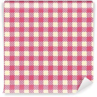 pink cream seamless gingham pattern Self-adhesive Custom-made Wallpaper