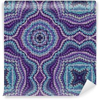 Seamless background pattern. Decorative symmetric mosaic. Self-adhesive Custom-made Wallpaper
