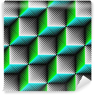 Seamless Cube Pattern Abstract Wrapping Background Self Adhesive Wallpaper