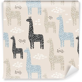 Seamless pattern with giraffe. Childish texture for fabric, textile. Vector background Self-adhesive Custom-made Wallpaper