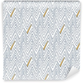 Simple seamless vector pattern with zigzag lines Self-adhesive Custom-made Wallpaper
