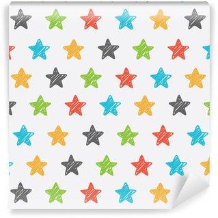Sketchy star seamless background Self-adhesive Custom-made Wallpaper