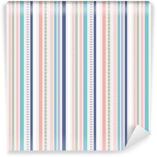 Stripes Seamless pattern; pastel colors pattern. Self-adhesive Custom-made Wallpaper