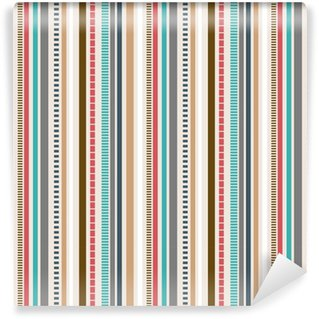 Stripes Seamless pattern; Retro colors pattern. Self-adhesive custom-made wallpaper